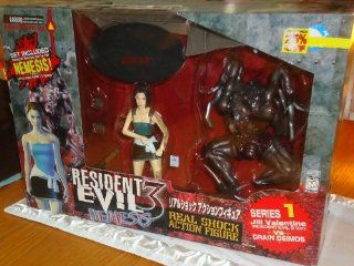 Resident Evil 3 Nemesis Series 1 Jill Valentine vs Drain Deimos Real Shock Action Figure Toys & Games