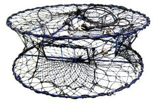 Promar Heavy Duty Collapsible Crab Pot, 32x12 Inch Poly : Fishing Bait Traps : Sports & Outdoors