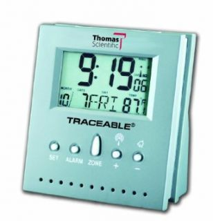 "Thomas 5125 Workstation Traceable Radio Controlled Atomic Clock, 2.5"" Width x 3"" Height x 1.5"" Thick, 32 to 158 degree F: Industrial & Scientific"