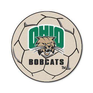 FANMATS NCAA Ohio University Bobcats Nylon Face Soccer Ball Rug: Automotive