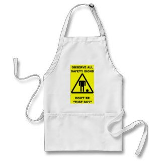 Safety Sign Warning Aprons