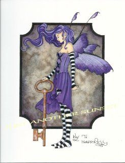 """Key to Happiness Amy Brown Open Edition 8.5"""" X 11"""" Fairy Print"""