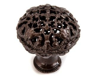 Carpe Diem Hardware 140 12 Juliane Grace Knob, 1 1/2 Inch, Bronze   Cabinet And Furniture Knobs