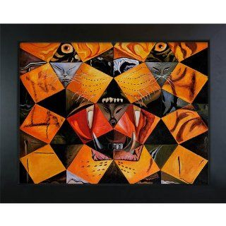 Overstockart Sd1830 Fr 137B30X40 Dali Cinquenta Imagenes Abstractas with New Age Wood Frame, Black Finish   Oil Paintings