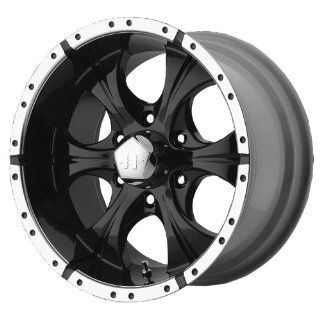 15x8 Helo Maxx (Gloss Black / Machined) Wheels/Rims 5x139.7 (HE7915855312) Automotive