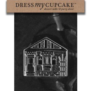 Dress My Cupcake DMCM132ASET Chocolate Candy Mold, House Pour Box, Set of 6 Kitchen & Dining