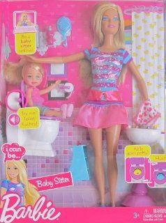 BARBIE I Can BeBABY SITTER w 'FLUSHING' TOILET, BARBIE DOLL, KELLY DOLL & More (2009) Toys & Games