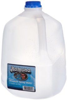 Ramona Distilled Water, 128 Ounce (Pack of 6) : Bottled Drinking Water : Grocery & Gourmet Food