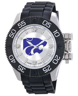 Game Time Watch, Mens Kansas State University Black Polyurethane Strap 47mm COL BEA KSU   Watches   Jewelry & Watches