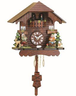 Black Forest Clock Black Forest House, turning dancers, incl. batterie   Cuckoo Clocks