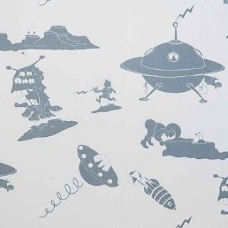 sample 'the final frontier' alien wallpaper by paperboy wallpaper