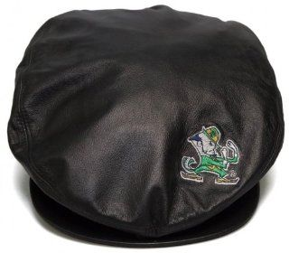 New University of Notre Dame Leather Beret Style Hat  Paper Boy/Cabbie/Captain Cap   One Size  Sports Fan Baseball Caps  Sports & Outdoors