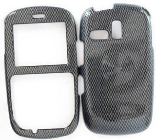 Samsung R355c Carbon Fiber Design Hard Case Cover Skin Protector NET 10 Straight Talk Cell Phones & Accessories