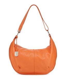 Danielle Leather Hobo Bag, Deep Coral