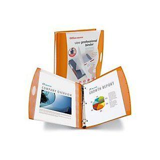 Office Depot(R) Brand View Professional Binder, 1In. Rings, Burnt Orange