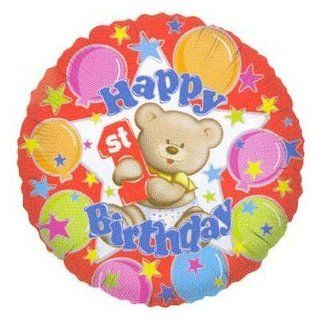 """Happy 1st Birthday"" 18"" Mylar Balloons (Pack of 4)   Childrens Party Balloons"