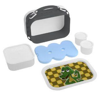 Lunchbox  with alligator or crocodile cartoon