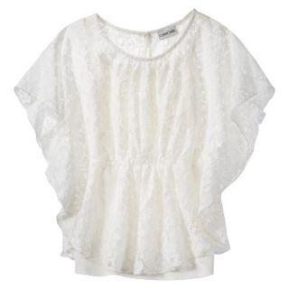 Cherokee Girls 3/4 Sleeve Shirt   Almond Cream S