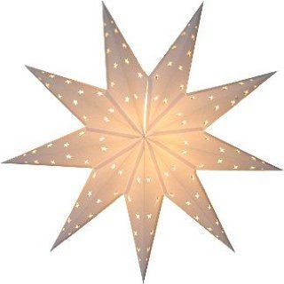 Star Lights   9 Pointed White Paper Star Lamp/Lantern