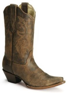 Corral Women's Distressed Leather Western Cowgirl Boot Snip Toe: Shoes