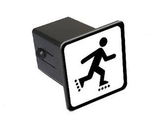 "Inline Skate Skating Rollerblade Sign Symbol   2"" Tow Trailer Hitch Cover Plug Insert: Automotive"