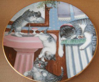 Mischief Makers Country Kitties Decorative Limited Edition Collector Plate   8 1/2 inches in diameter  Commemorative Plates