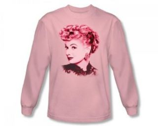 I Love Lucy   Beautiful Adult L/S T Shirt In Pink, Size X Large, Color Pink Clothing