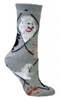 Poodles Dog Gray Cotton Ladies Socks Clothing