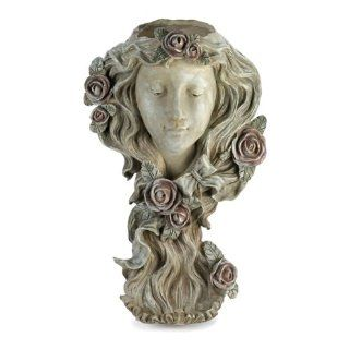Rose Angel Lady Face Home Indoor Outdoor Christmas Seasonal Decorative Wall Planter Plaque Gift : Hanging Plant Stand Indoor : Patio, Lawn & Garden