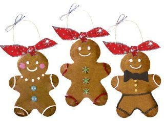 Traverse Bay Confections Hand Decorated Gingerbread Man Ornament Cookies, 2 Ounce Cookies (Pack of 6) : Sugar Cookies : Grocery & Gourmet Food