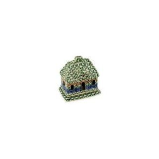 Shop Boleslawiec Polish Pottery house shaped candle holder H7799C pattern 50 made by Ceramika Artystyczna at the  Home D�cor Store