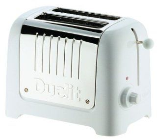 Dualit 25373 Lite 2 Slice Toaster, Soft Touch White Kitchen & Dining