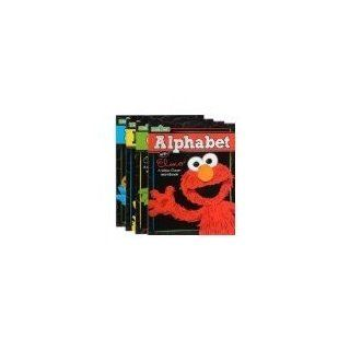 4 Pack Wipe Clean Alphabet Elmo, Numbers Big Bird, Colors Oscar the Grouch and Shapes Cookie Monster: Toys & Games