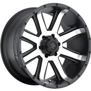 Ultra Crusher 18 Machined Black Wheel / Rim 6x5.5 with a  25mm Offset and a 106 Hub Bore. Partnumber 195 8183U: Automotive