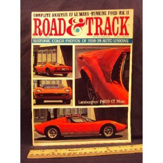 1966 66 October ROAD and TRACK Magazine, Volume 18 Number # 2 (Features Road Test On Fiat 850 Coupe, Lamborghini 400 GT, & Jaguar LKE 2+2 + Ford GT Mark II and Type D Auto Union Photos) Road and Track Books