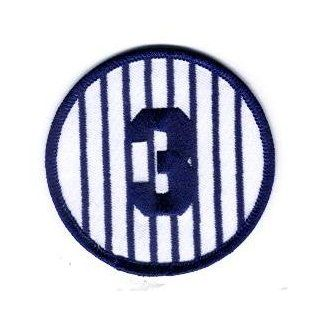 """New York Yankees Babe Ruth Retired Number 3 Patch   3"""" Round Sports & Outdoors"""