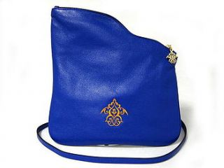 fenix leather crossbody or clutch bag by kausar