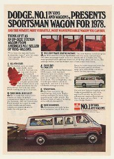 1978 Dodge Sportsman Wagon Number 1 in Vans Print Ad (47623)