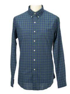 Polo Ralph Lauren Hemd Gr. XL / Custom Fit langarm gr�n, blau + schwarz kariert + Poloreiter blau Bekleidung