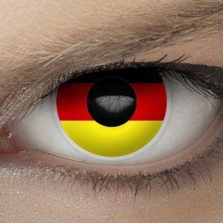 "Hochwertige Fan Kontaktlinsen, Fu�ball WM 2014 in Brasilien, Motiv Flagge ""Deutschland"" (inkl. gratis Linsenbeh�lter): Drogerie & Körperpflege"