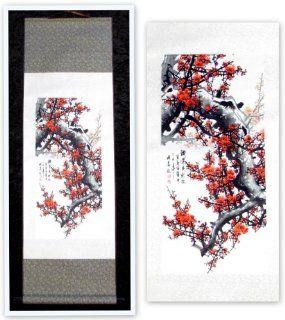 Chinesische Schriftrolle   Model: Kirschbl�te   H�he ca. 95cm, Breite ca. 35cm   Chinesisches Wandbild   Schriftrolle zum Aufh�ngen an die Wand: Küche & Haushalt