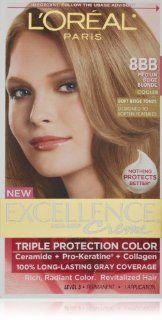 LOreal Excellence Hair Color Creme   8BB Medium Beige Blonde   1 EA (Haarfarbe): Drogerie & Körperpflege