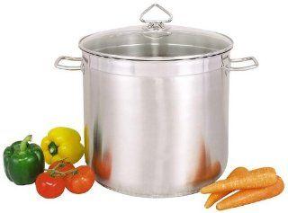 TOP universal Kochtopf Suppentopf 20 Liter Edelstahl rostfrei: Küche & Haushalt