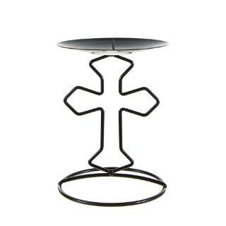 Black Religious Cross Metal Candle Holder   Tea Light Holders