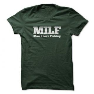 Sun Frog Shirts Men's MILF Man I Love Fishing T Shirts: Clothing