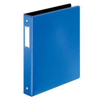 Cardinal by TOPS Products EasyOpen Locking Round Ring Binder with Label Holder, 1 Inch Capacity, Medium Blue (18817)