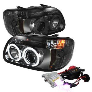 High Performance Xenon HID Ford Explorer 1PC ( Non Sport and Sport Trac Model ) CCFL Halo Projector Headlights with Premium Ballast   Smoke with 12000K Violet HID Automotive