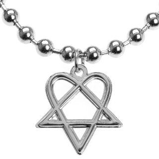 Him   Heartagram Ball Chain Necklace: Jewelry