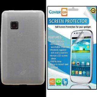 CoverON� LG 840G Silicone Rubber Soft Skin Case Cover Bundle with Clear Anti Glare LCD Screen Protector   Clear: Cell Phones & Accessories
