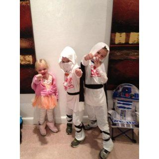 Haunted House Child's White Ninja Costume, Small: Clothing